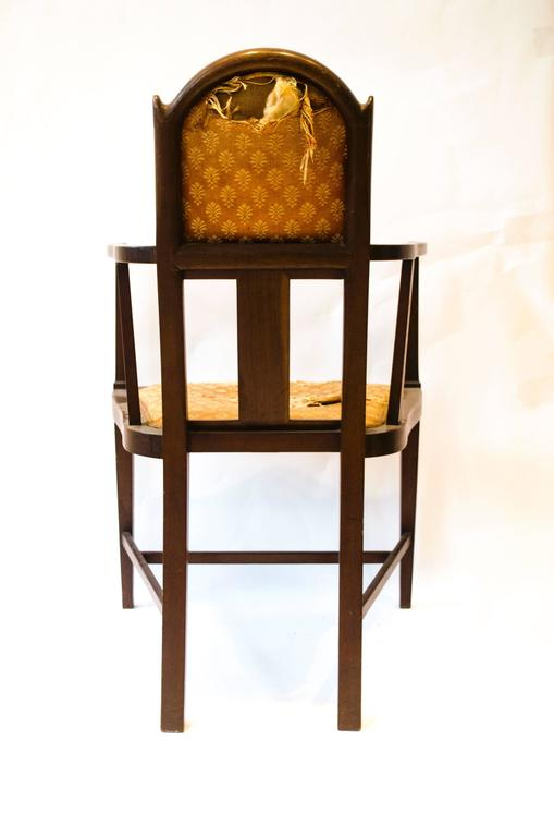 Hand-Crafted Arts & Crafts Armchair by G. M. Ellwood and J. S. Henry For Sale