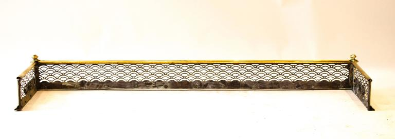 English Thomas Jeckyll made by Barnard Bishop & Barnard. An Anglo-Japanese Brass Fender For Sale