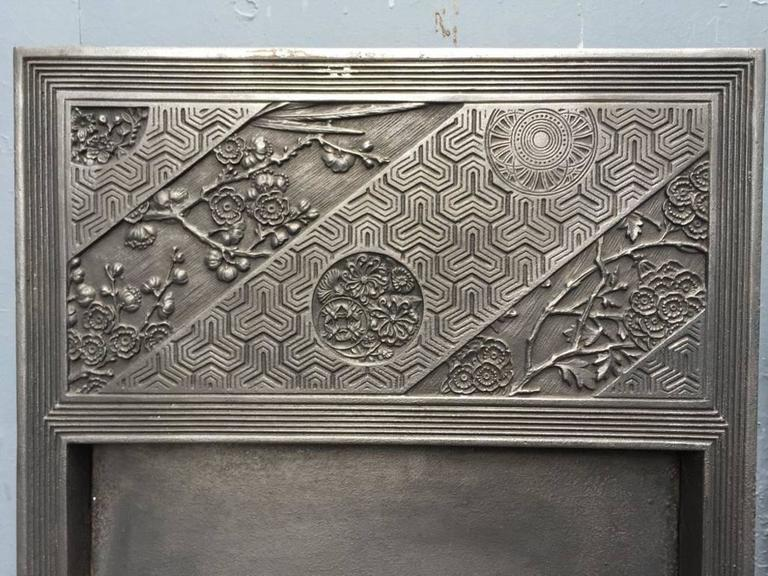 Aesthetic Movement Pair of Anglo-Japanese Cast Iron Fire Inserts by T Jeckyll For Sale