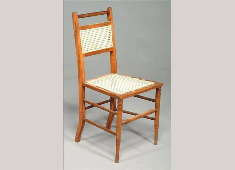 Beautiful Edward William Godwin (attributed), A Set Of Four Anglo Japanese Cane Seat