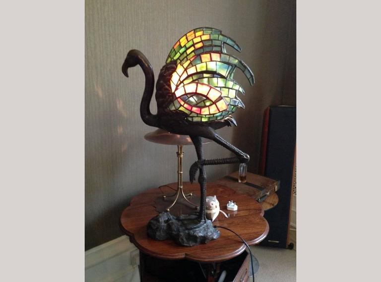 Bronze table lamp modelled as a flamingo by alberic collin for sale a bronze table lamp modelled as a flamingo by alberic collin biography alberic collin aloadofball Image collections