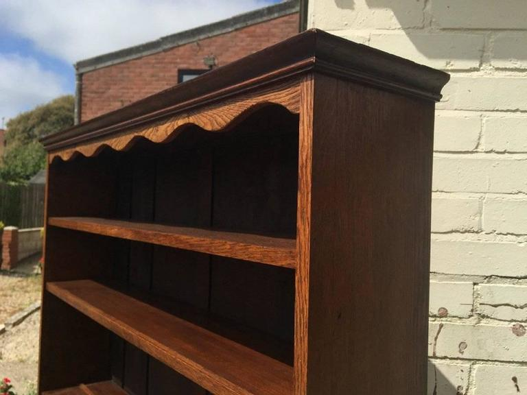 Arts and Crafts An Arts & Crafts Craftsman made simple Oak Dresser with Decorative Shaped Top  For Sale