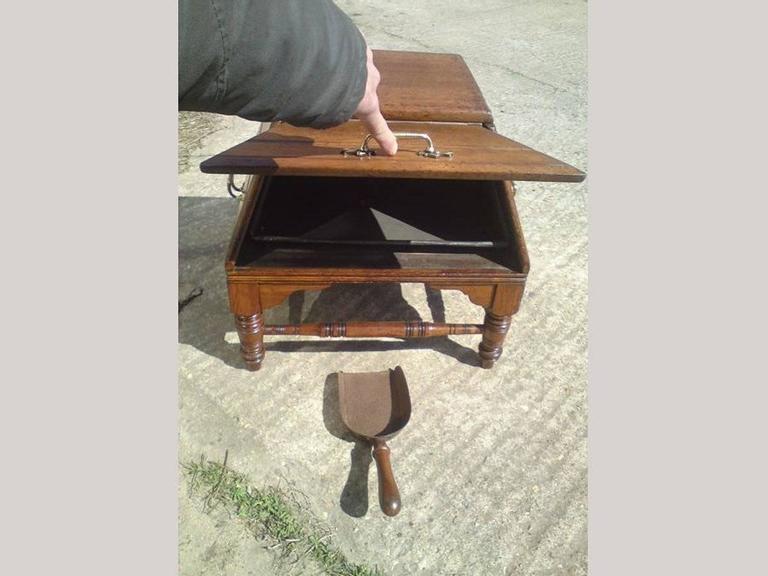 Dr Christopher Dresser for Benham & Froud A Rare Aesthetic Movement Oak Coal Box For Sale 1