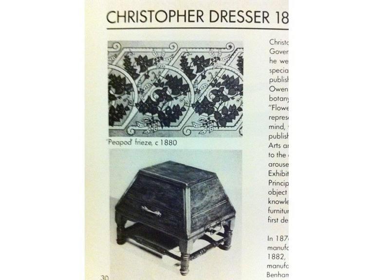 Dr Christopher Dresser for Benham & Froud A Rare Aesthetic Movement Oak Coal Box For Sale 3