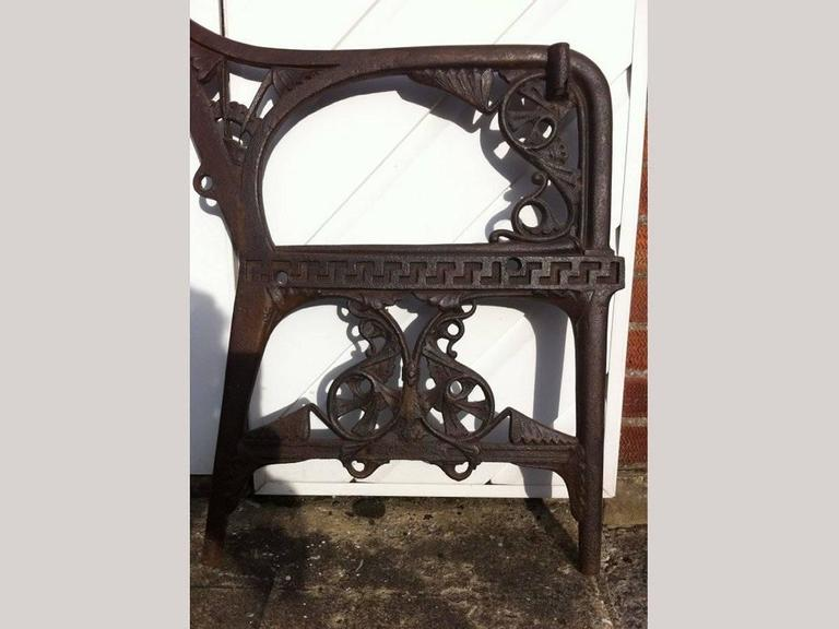 Great Britain (UK) Dr C Dresser for Colebrookdale, Period Aesthetic Cast Iron Garden Canopy Seat For Sale