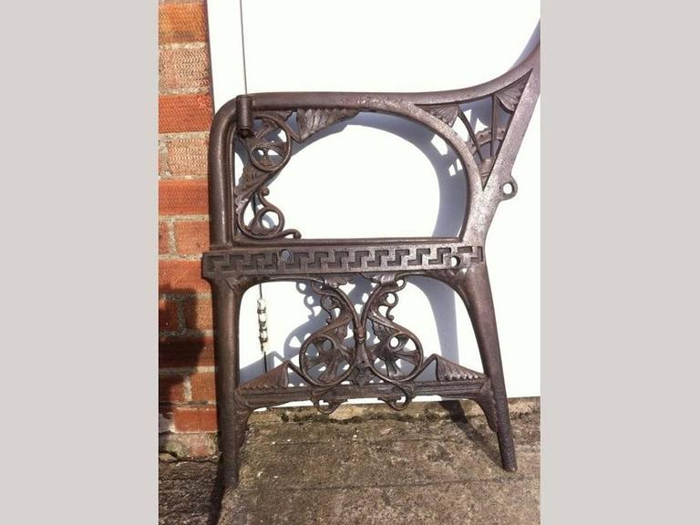 Dr C Dresser for Colebrookdale, Period Aesthetic Cast Iron Garden Canopy Seat In Excellent Condition For Sale In London, GB