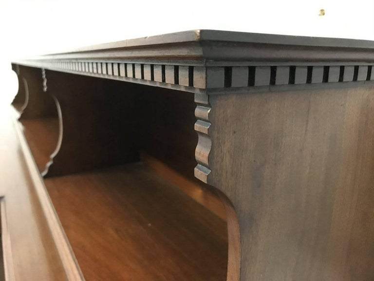Hand-Crafted Morris and Co. An Arts and Crafts Breakfront Bookcase Designed by George Jack For Sale