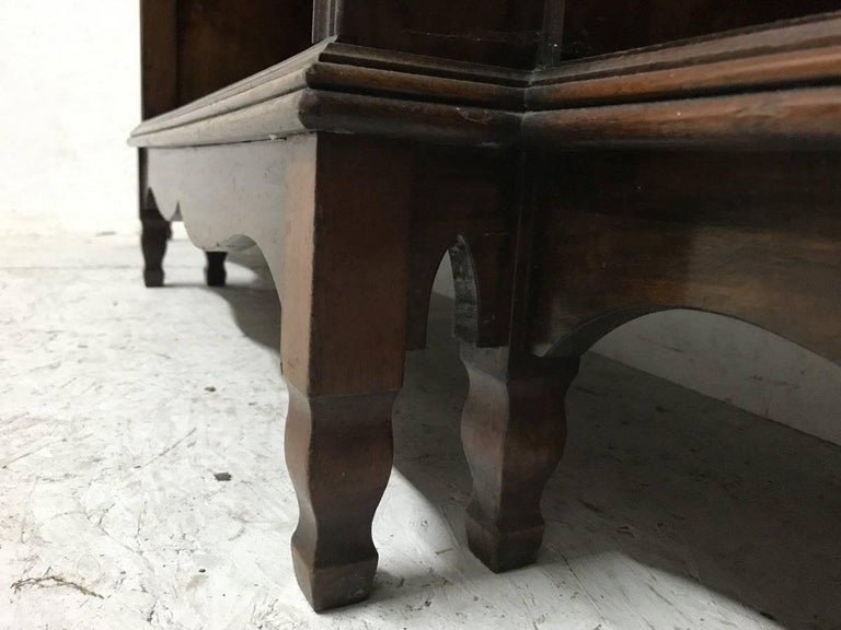 Late 19th Century Morris and Co. An Arts and Crafts Breakfront Bookcase Designed by George Jack For Sale