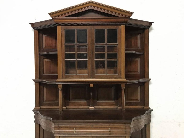 English Morris & Co. Fine Mahogany Glazed Bookcase Designed by George W Jack For Sale
