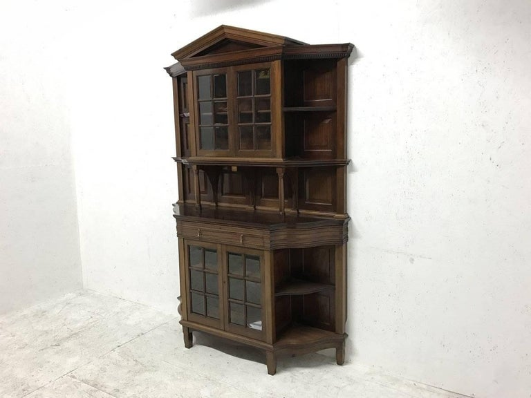 Arts and Crafts Morris & Co. Fine Mahogany Glazed Bookcase Designed by George W Jack For Sale