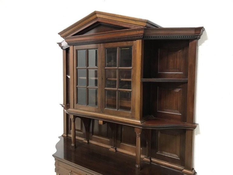 Morris & Co. Fine Mahogany Glazed Bookcase Designed by George W Jack In Good Condition For Sale In London, GB