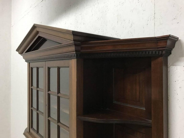 Late 19th Century Morris & Co. Fine Mahogany Glazed Bookcase Designed by George W Jack For Sale