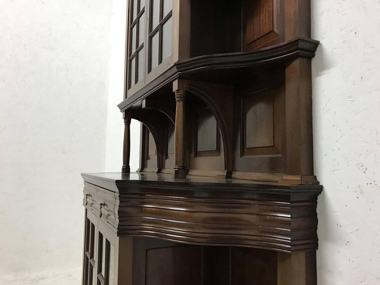 Morris & Co. Fine Mahogany Glazed Bookcase Designed by George W Jack For Sale 1