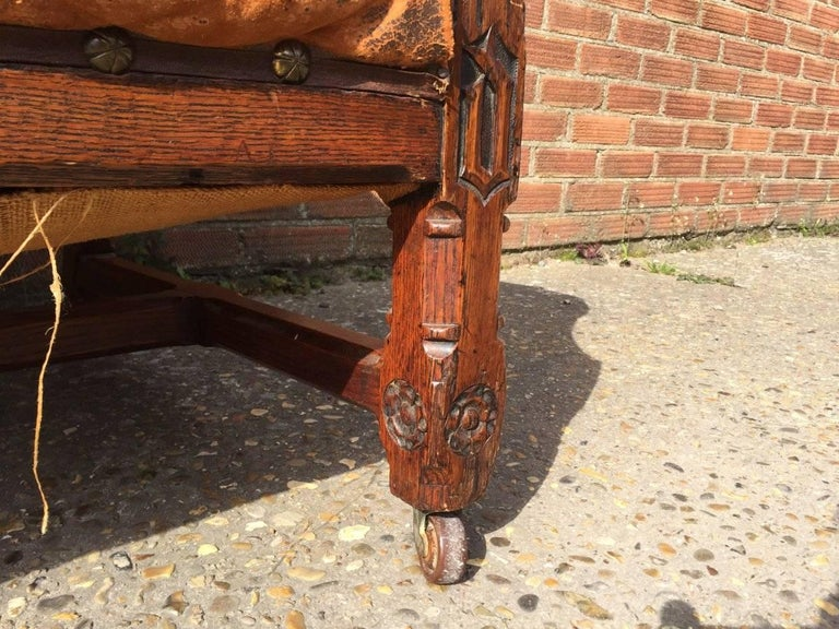 A W N Pugin, A Rare Oak Armchair Probably Designed for the Speaker's House For Sale 1