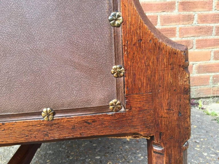 A W N Pugin, A Rare Oak Armchair Probably Designed for the Speaker's House For Sale 2