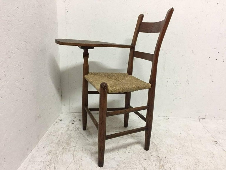 British William Birch, Artist's Sketching Armchair with a Shaped Top for Working on For Sale