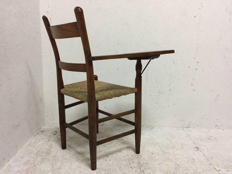 Hand-Crafted William Birch, Artist's Sketching Armchair with a Shaped Top for Working on For Sale