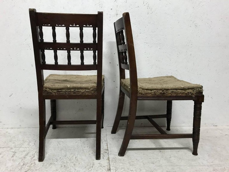 English Bruce Talbert, for Gillows. Set of 10 Aesthetic Movement Walnut Dining Chairs