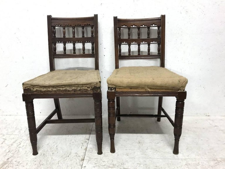 Bruce Talbert, for Gillows. Set of 10 Aesthetic Movement Walnut Dining Chairs  2