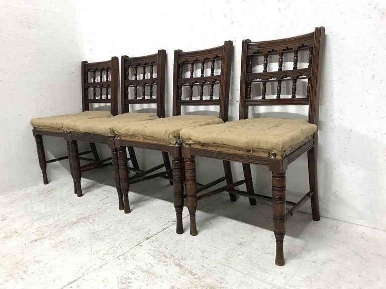 Bruce Talbert, for Gillows. Set of 10 Aesthetic Movement Walnut Dining Chairs  1