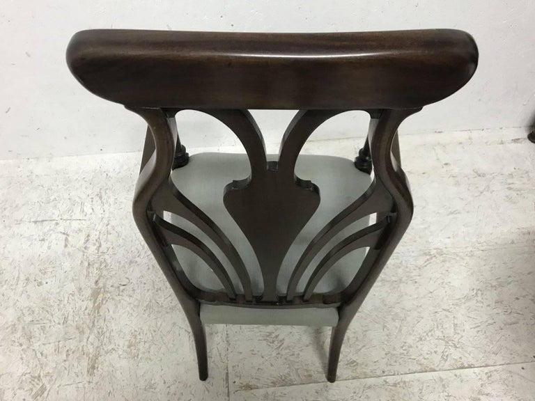 Hand-Crafted Liberty & Co. An Arts & Crafts Mahogany Armchair with an Art Nouveau Style Back  For Sale