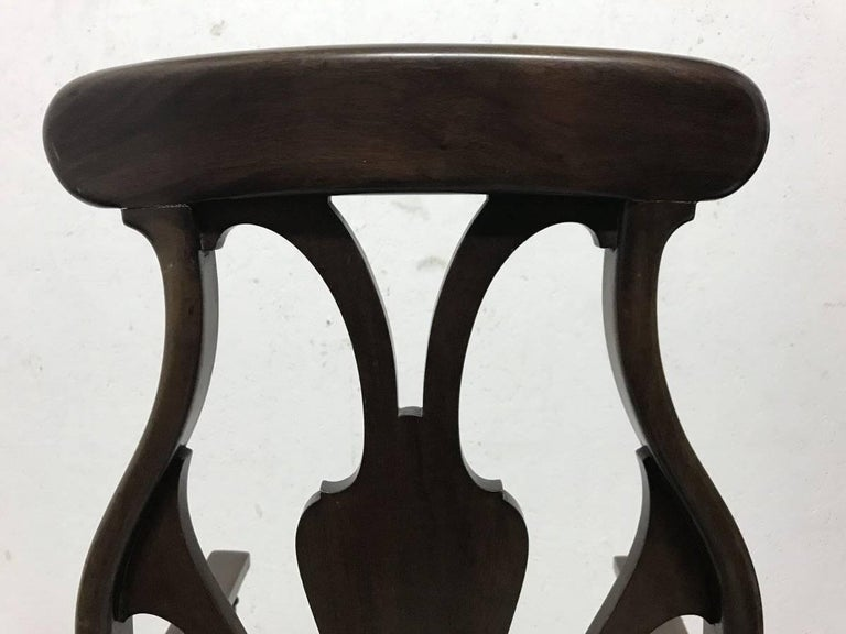 Liberty & Co. An Arts & Crafts Mahogany Armchair with an Art Nouveau Style Back  For Sale 3