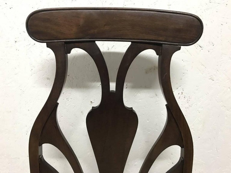 Liberty & Co. An Arts & Crafts Mahogany Armchair with an Art Nouveau Style Back  In Good Condition For Sale In London, GB