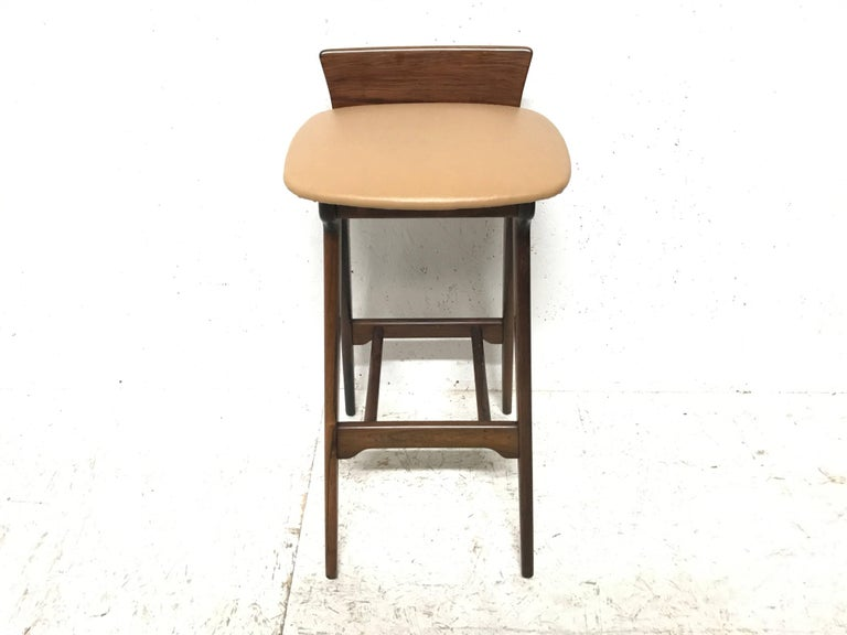 Scandinavian Modern Erik Buck Chr. Christensens Mobelfabrik I/S Vamdrup Design Rosewood Bar Stool For Sale