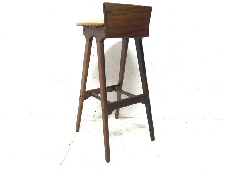 Danish Erik Buck Chr. Christensens Mobelfabrik I/S Vamdrup Design Rosewood Bar Stool For Sale