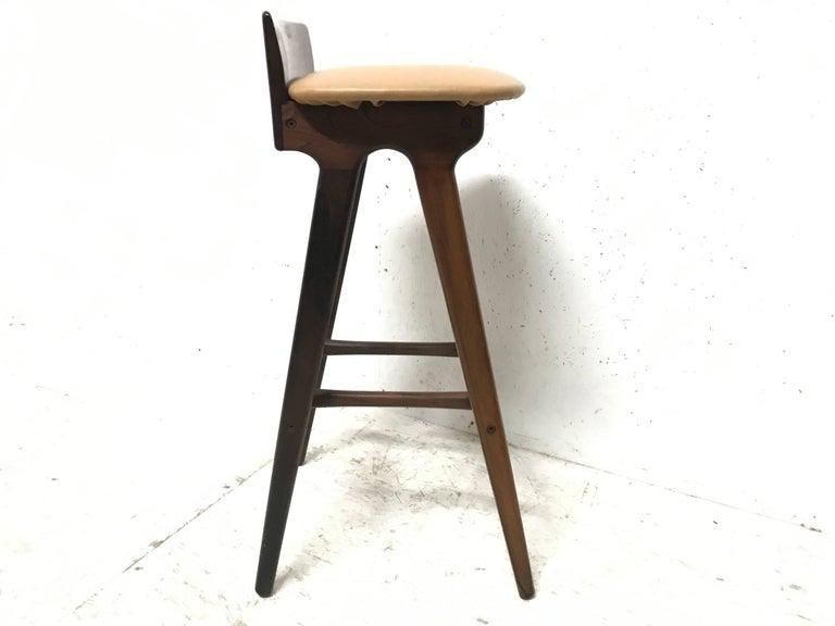 Hand-Crafted Erik Buck Chr. Christensens Mobelfabrik I/S Vamdrup Design Rosewood Bar Stool For Sale