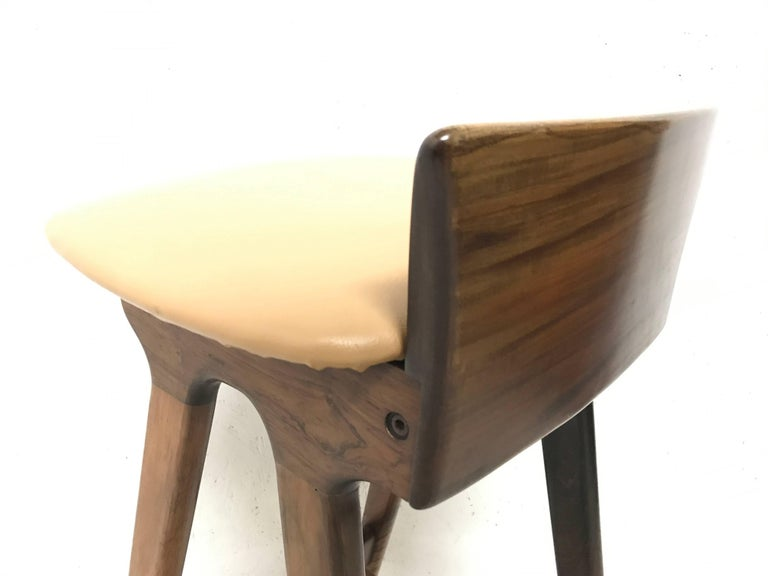 Mid-20th Century Erik Buck Chr. Christensens Mobelfabrik I/S Vamdrup Design Rosewood Bar Stool For Sale