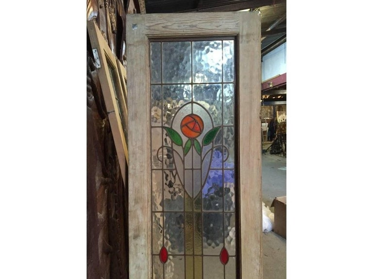 Four Arts And Crafts Stained Glass Doors With Stylized