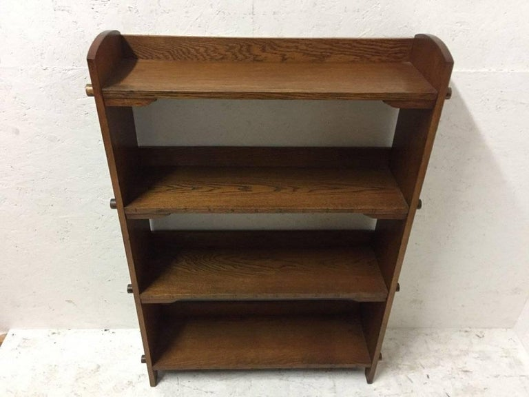 Arts and Crafts Wylie & Lochhead Attributed an Arts & Crafts Oak Bookcase For Sale