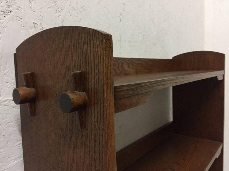 Scottish Wylie & Lochhead Attributed an Arts & Crafts Oak Bookcase For Sale