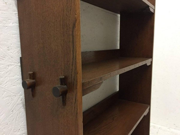 Hand-Crafted Wylie & Lochhead Attributed an Arts & Crafts Oak Bookcase For Sale