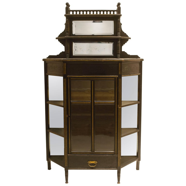 E W Godwin, William Watt, an Important Anglo-Japanese Ebonised Display Cabinet For Sale