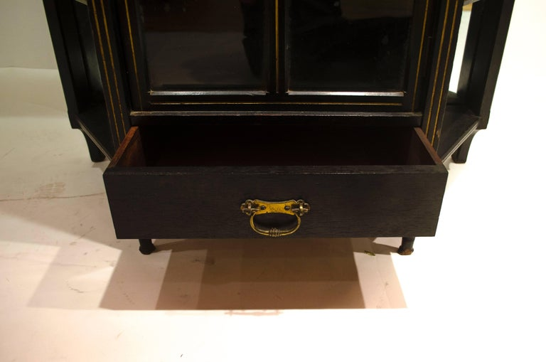 Walnut E W Godwin, William Watt, an Important Anglo-Japanese Ebonised Display Cabinet For Sale