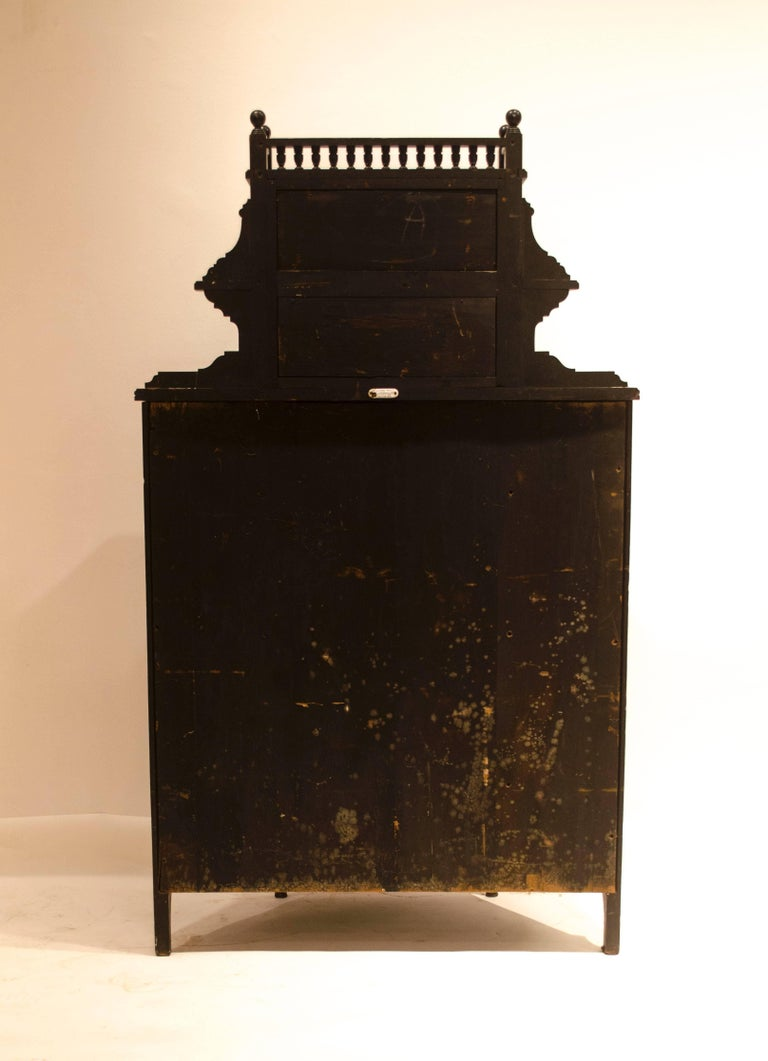 E W Godwin, William Watt, an Important Anglo-Japanese Ebonised Display Cabinet For Sale 1