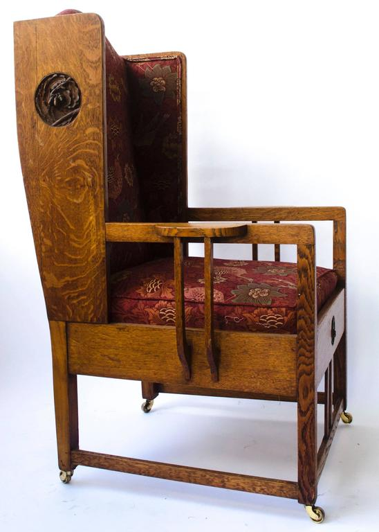 Attributed to GM Ellwood Arts and Crafts Armchair with ...