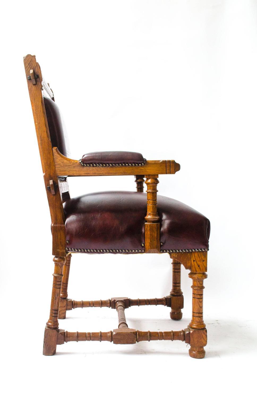 Gothic Revival Oak Armchair Designed by John Pollard ...