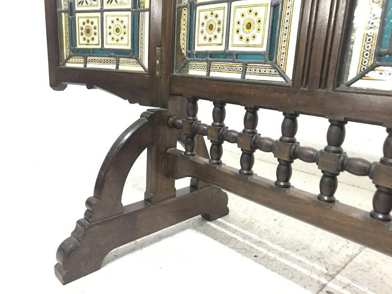 AWN Pugin Gothic Revival Oak, Leaded and Painted Glass ...