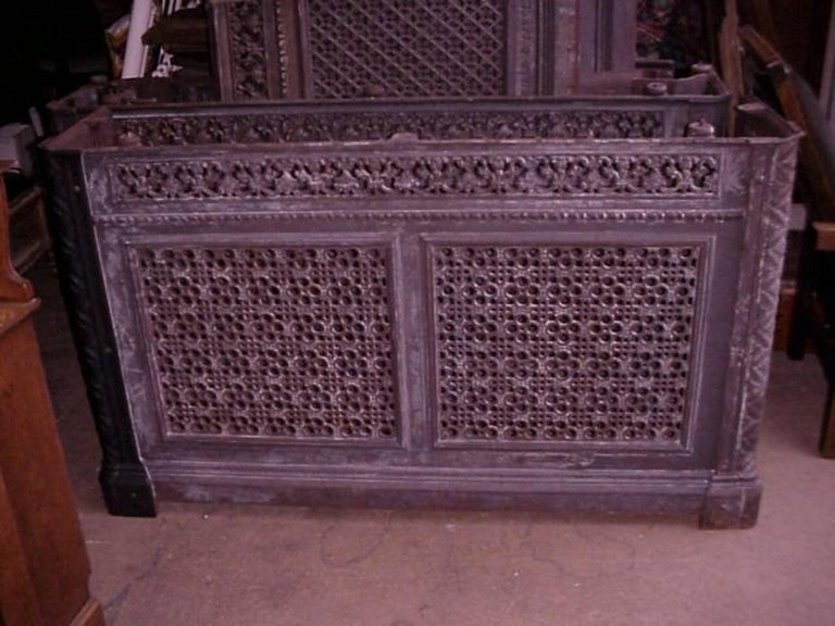 Five cast iron consoles radiator covers from the royal - Cast iron radiator covers ...