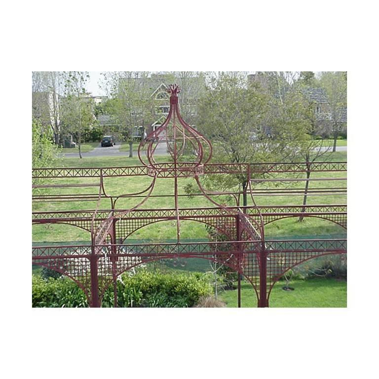 A Monumental Mid Victorian Wrought And Cast Iron Pergola Or Decorative  Garden Structure, A