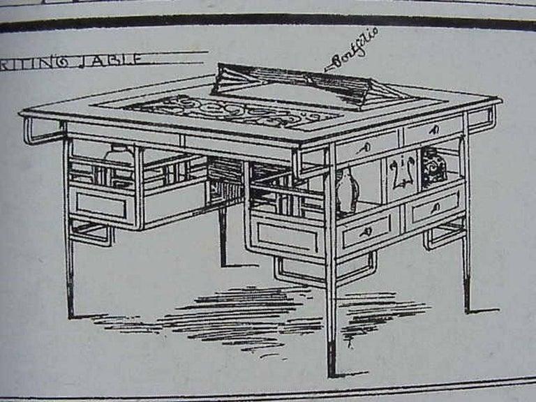 Edward William Godwin for William Watt, An Anglo-Japanese Walnut Desk. For Sale 2