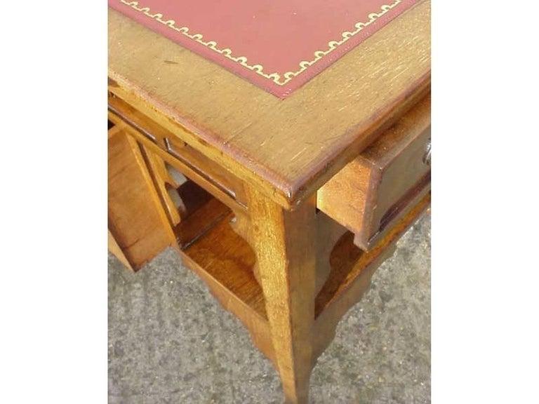 19th Century Edward William Godwin for William Watt, An Anglo-Japanese Walnut Desk. For Sale