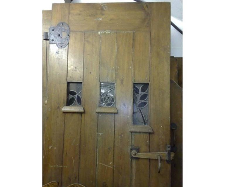 M H Baillie Scott Attr Exceptional Set Of Arts And Crafts Exterior Interior Doors For Sale At
