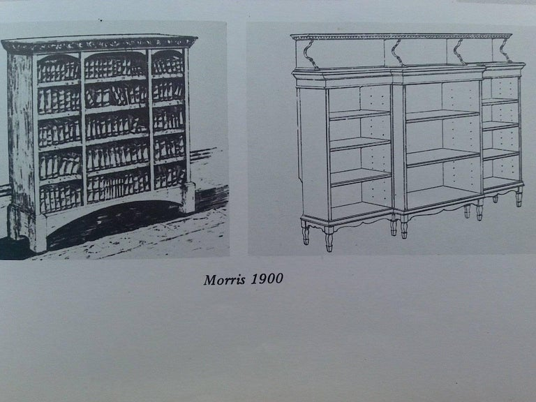 Mahogany Morris and Co. An Arts and Crafts Breakfront Bookcase Designed by George Jack For Sale