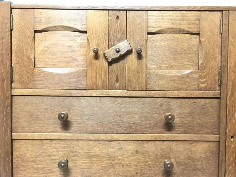 Arts And Crafts Ambrose Heal Letchworth Oak Compactum Nursery Chest Of Drawers For