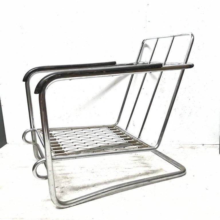 thonet 1930s cantilever armchair in the style of erich dieckmann  gilbert rhode for sale at 1stdibs