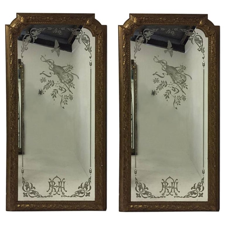 A Magnificent Pair of Mirrors from the Royal Albert Hall in London